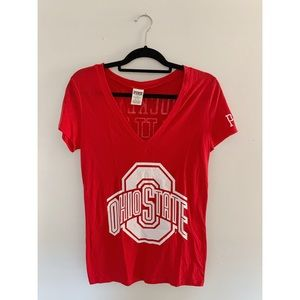 Victoria Secret Pink Ohio State V Neck T
